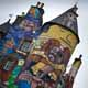 Thought to be the oldest castle in Scotland, Kelburn Castle, in Largs  has been painted with graffiti by Brazilian artists.